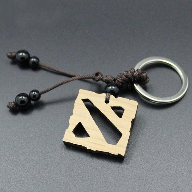 DOTA 2 Logo Wooden Keychain Set