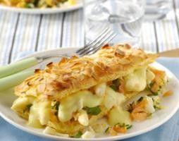 Bladerdeegtaartje met asperges en zalm recept - Vis - Eten Gerechten - Recepten Vandaag