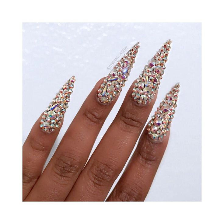 Crystal nails Bling nails Swarovski nails
