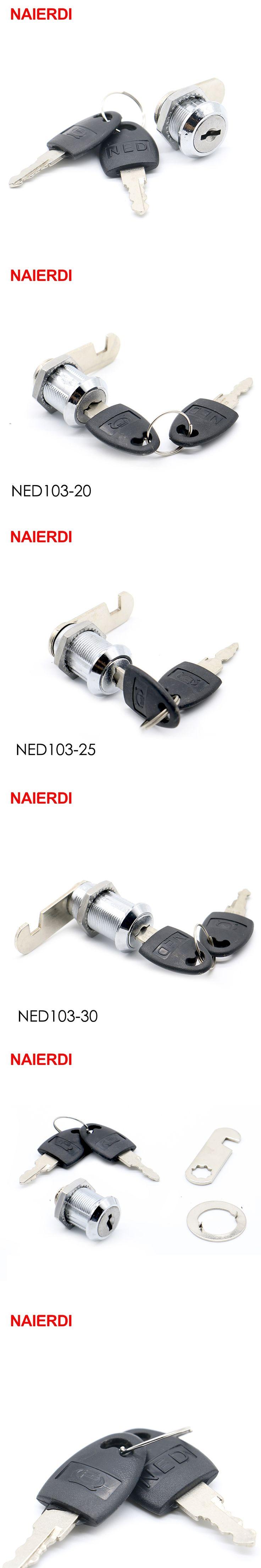 NAIERDI 103 Series Cam Cylinder Locks Door Cabinet Mailbox Drawer Cupboard Locker Furniture Locks With Plastic Keys Hardware