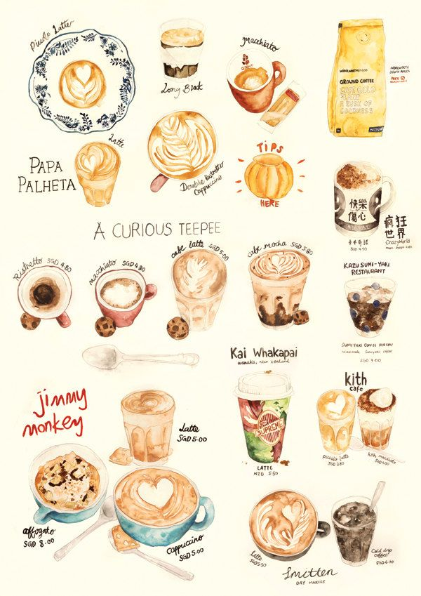 Watercolor Illustration - Coffee Collection