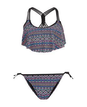 Teens Aztec Print Flounce Bikini | New Look