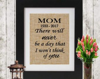 Mother Memorial Sign Sympathy Gift In Memory of Mom Mommy