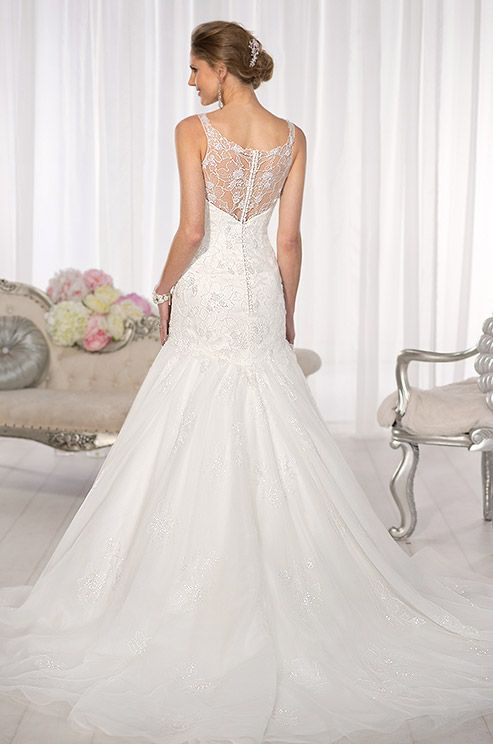 This Vintage Inspired Lace And Tulle Wedding Dress Is So