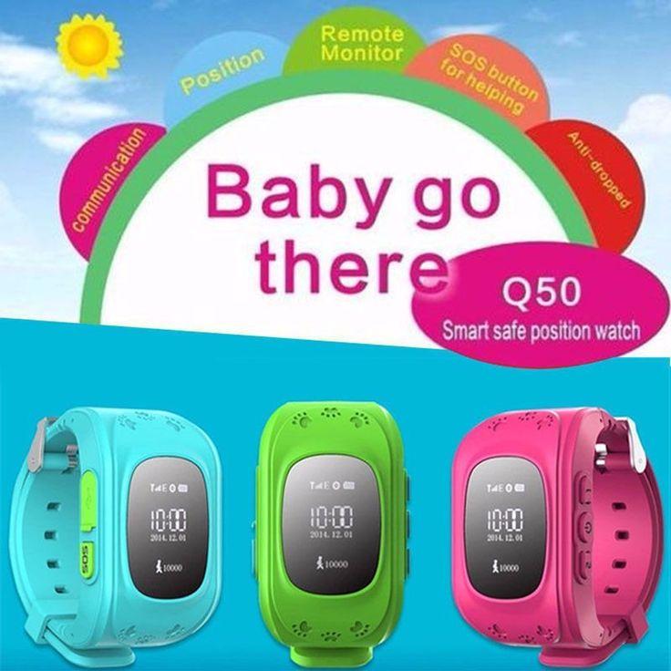 2016 Pintar Anak Aman GPS Menonton Jam Tangan Panggilan SOS Lokasi Finder Locator Tracker untuk Anak Anak Anti Hilang Monitor Bayi Hadiah Q50