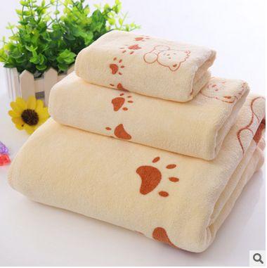 New Towel 3pcs/Set 100% Cotton Bath Beach Face Towel Sets for Adults 35cm*75cm*1p 70cm*140cm*1p Fiber Gift Bathroom Baby Towels