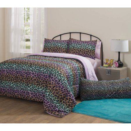Latitude Ombre Cheetah Bed-in-a-Bag Bedding Set - Walmart.com