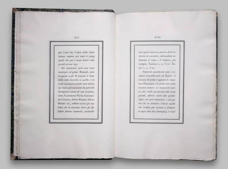 Book design by Giambattista Bodoni