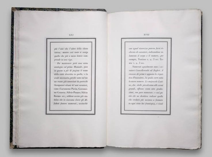 Book design by Giambattista Bodoni