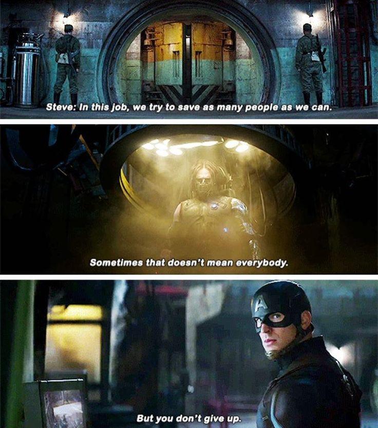 """This quote! I love it! #dailyavenging #marvel #captainamericacivilwar"""