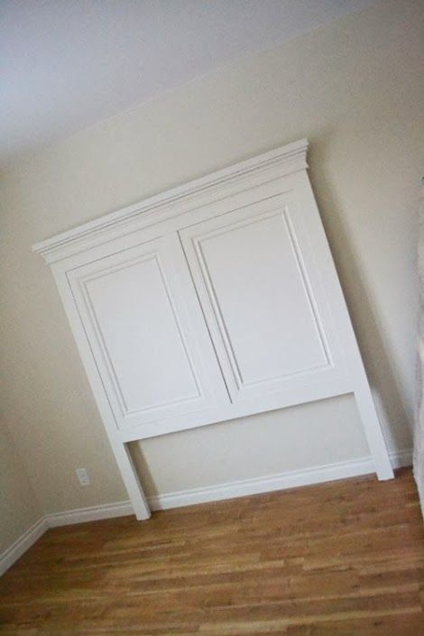 Ana white build a tall panel headboard queen free for Easy to make headboard ideas
