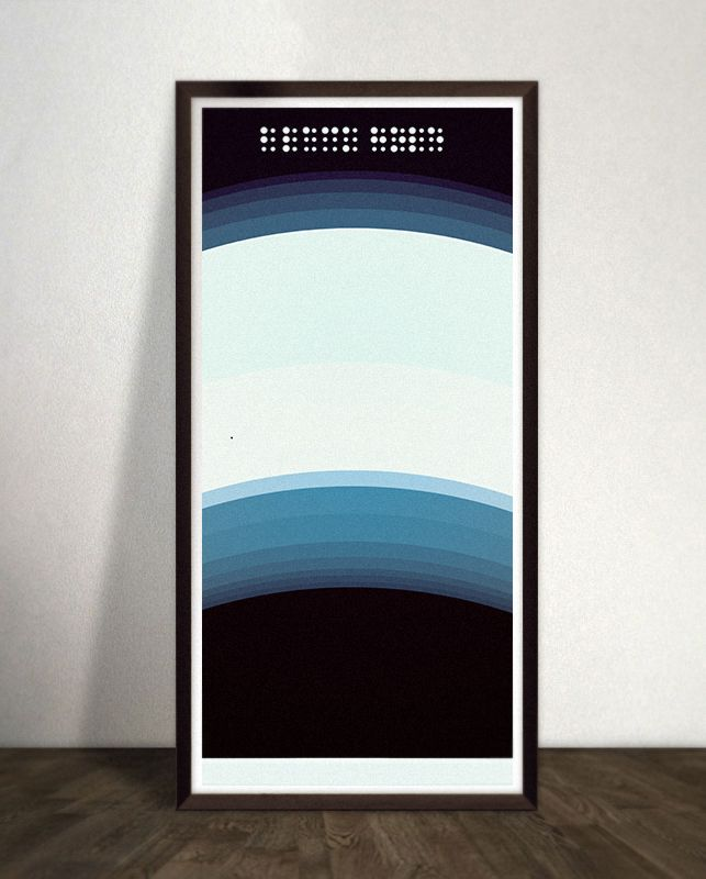 """A #Graphic version of a #crosssection of  a #blackhole called """"BLACK HOLE"""", typed with #braille. Size is 21x48 cm and Printed on Enhanced Matte 192 gram. Limited Edition of 100. For more space posters : http://lisaketty.tictail.com/"""