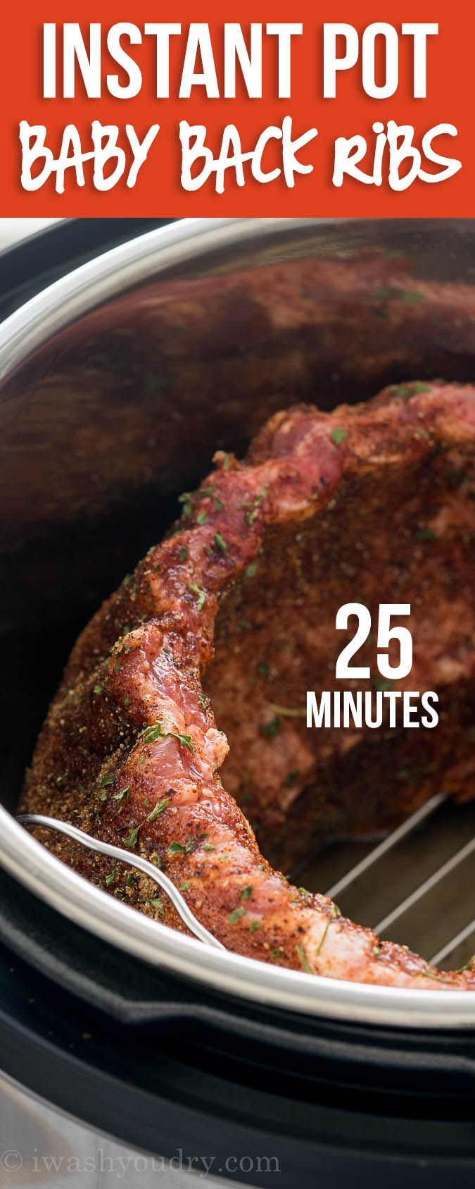 Instant Pot Baby Back Pork Ribs via @iwashyoudry