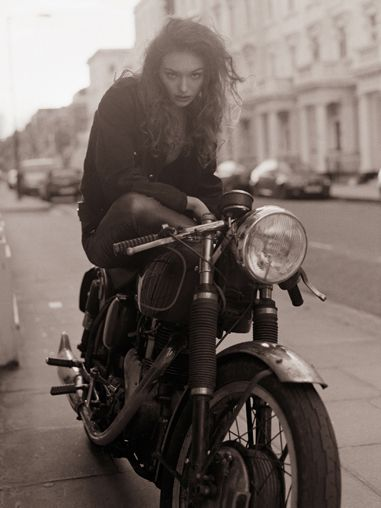 : Biker Girls, Girls Generation, Fashion Models, Biker Chick, Motorcycles Girls, Motorbikes Galleries, French Cafe, Bad Girls, Cafe Racers