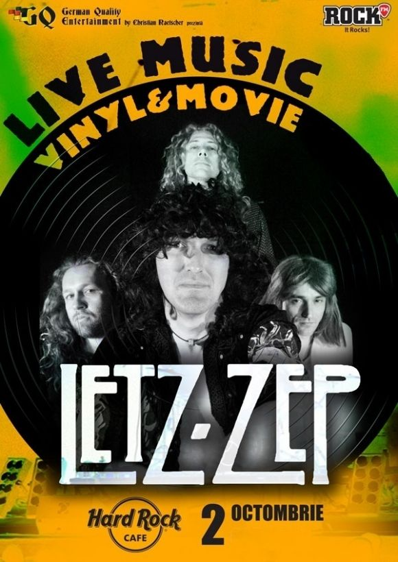 LETZ ZEP la Live Concert, Vinyl & Movie, Marca German Quality Entertainment in Hard Rock Cafe
