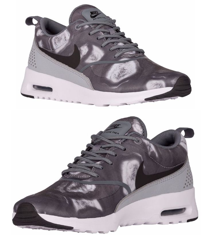 NIKE AIR MAX THEA WOMEN's RUNNING BLACK - WOLF GREY - WHITE AUTHENTIC USA SIZE