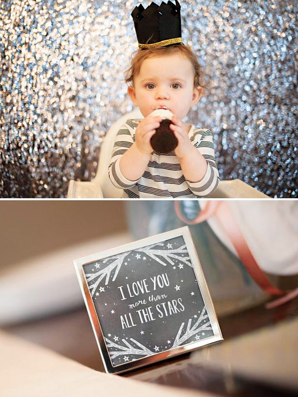 Twinkle Twinkle Little Star First Birthday Party {Pink & Gold}