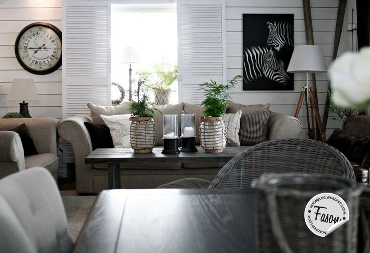 Our home in January: neutral colors, fresh plants, zebra decor and DIY coffee table.