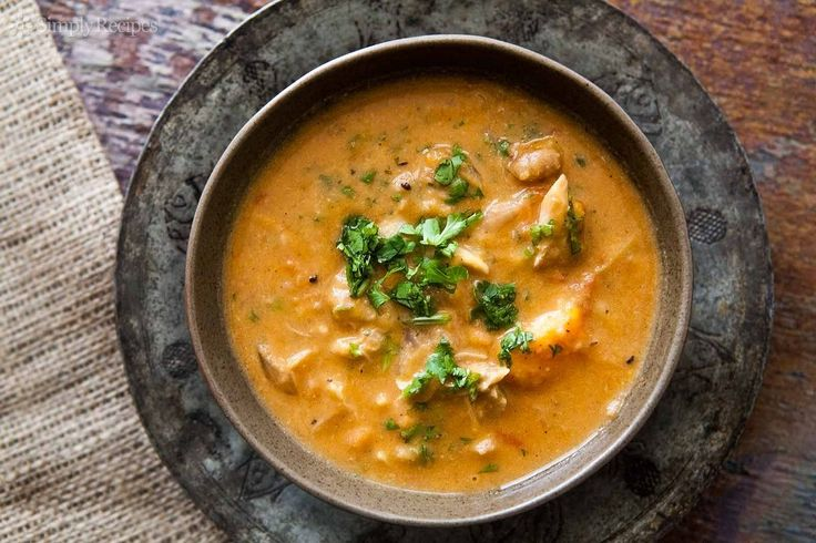 African Chicken Peanut Stew ~ A hearty West African-inspired stew of chicken thighs and legs, sweet potatoes and peanuts that is perfect for a chilly day. ~ SimplyRecipes.com