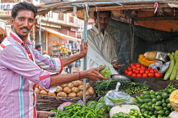 Vegetable stall in the market, Khandela