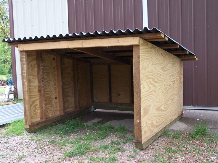 goat or pig shelter