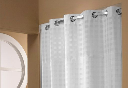 Basket Weave Hookless® Shower Curtain from Hilton to Home