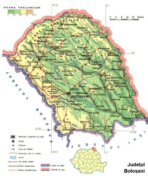 Botosani harta