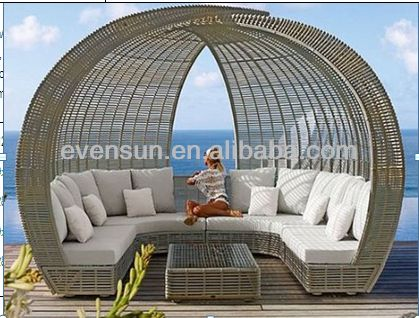 Outdoor Rattan Furniture,Sunbed,Canopy Bed   Buy Canopy Bed,White Rattan  Outdoor Furniture,Rattan Round Outdoor Furniture Product On Alibaba.com
