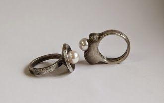 poławiaczka pereł - srebrny pierścień  http://pl.dawanda.com/shop/dasho https://www.facebook.com/dashoart