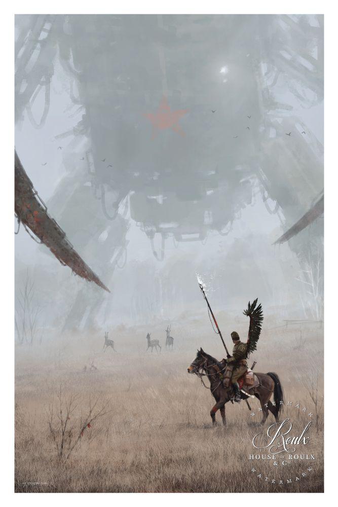 """1920 - Hussar"" by Jakub 'Mr. Werewolf' Rozalski - Fine Art Print"