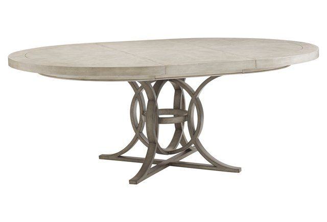 """Calerton 58"""" Dining Table, Oyster"""