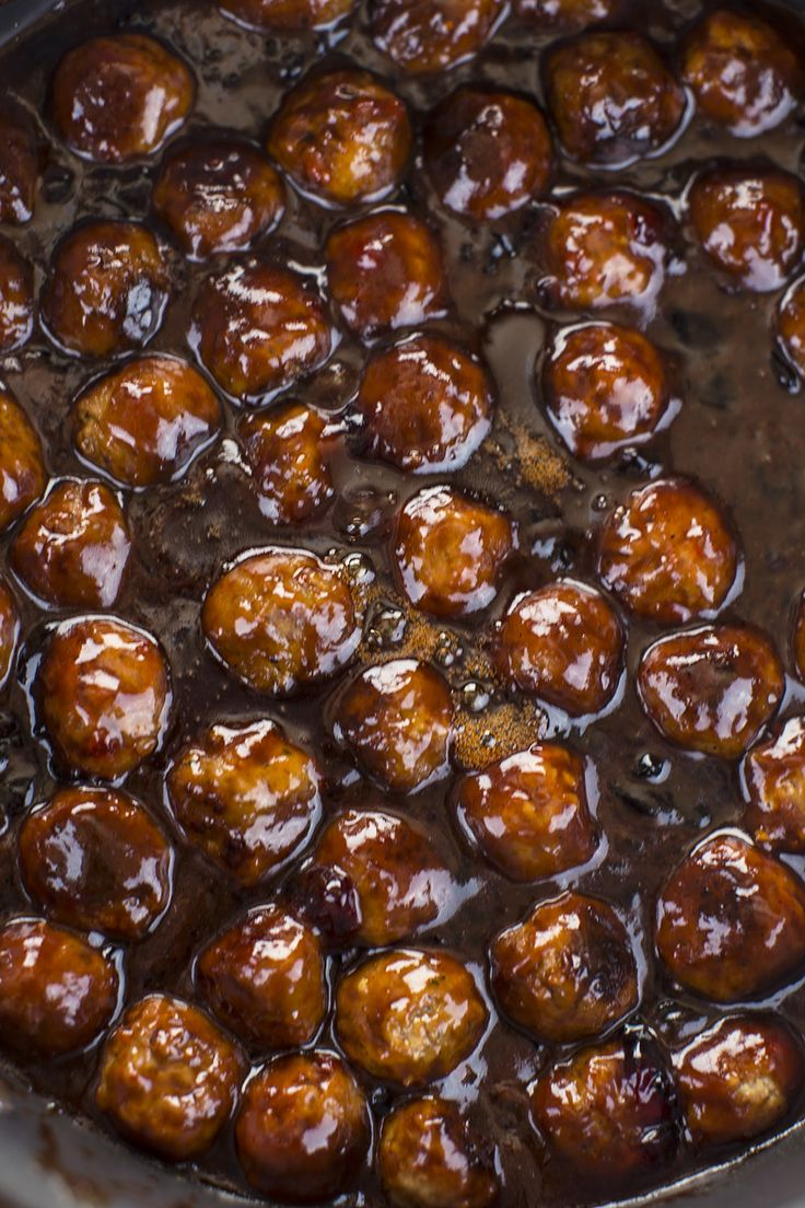 One Pot Sweet Barbecue Meatballs