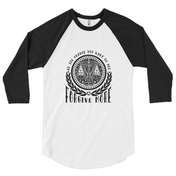FORGIVE MORE 3/4 sleeve raglan shirt FREE SHIPPING