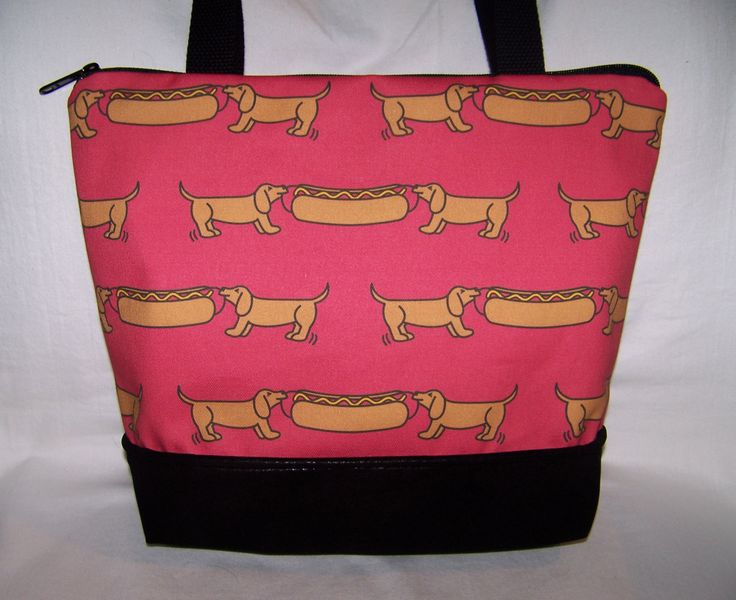 New Red Dachshund Tug-A-War Hotdog - Handbag-Purse-Bag by OscarsCreations on Etsy