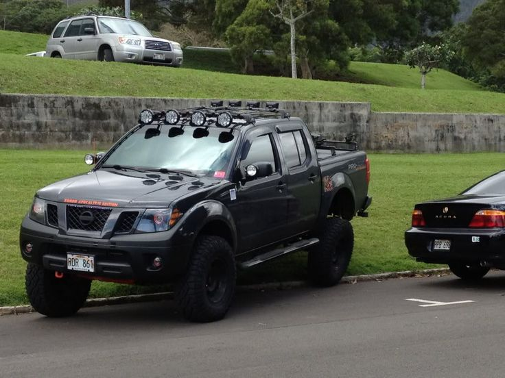 If i ever got a truck it would be like this Murdered out 2010 Nissan Frontier