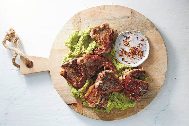 These lamb chops are the perfect throw-together healthy meal. They're full of iron and protein and take less than 15 minutes to cook.