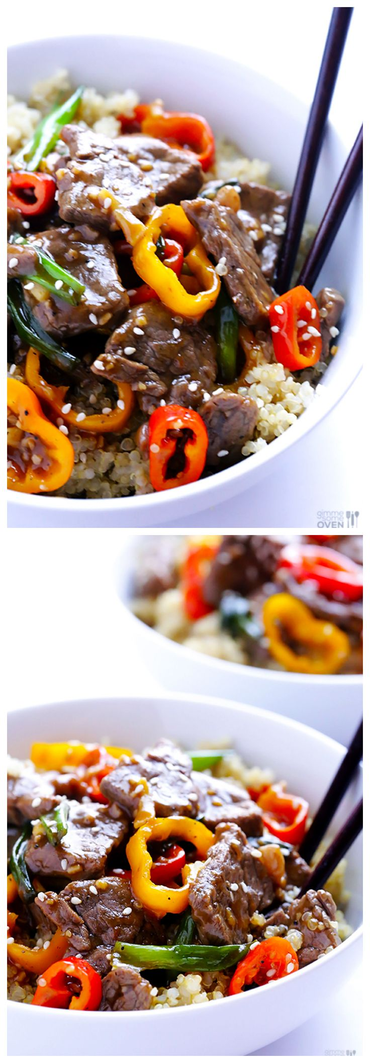 Easy Pepper Steak | gimmesomeoven.com #dinner #recipe