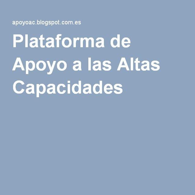 Plataforma de Apoyo a las Altas Capacidades