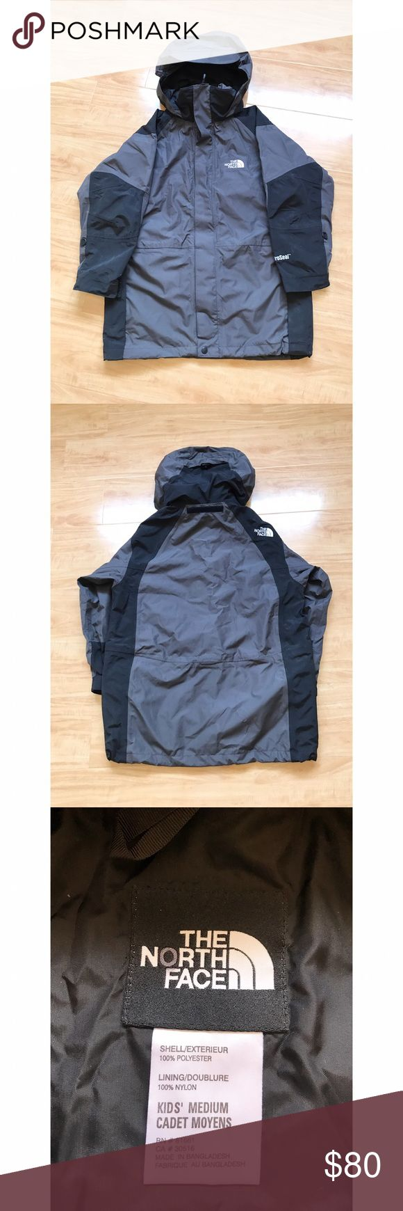 The North Face Grey Rain/Snow Jacket Kid's Medium. Please ask me further questions in the comments, I will be happy to answer! The North Face Jackets & Coats Raincoats