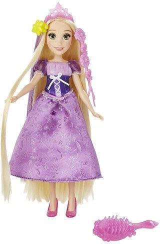 Met deze pop kun je urenlang spelen. Dit keer is de pop gekleed in de Rapunzel jurk. Deze pop is voorzien van extra lang haar! Deze kunststof popo is 32 centimeter hoog en gebaseerd op het figuur uit de populaire Disney-film. De pop is geschikt voor kinderen vanaf drie jaar.   Afmeting: 356x64x165 mm - Fashion Princess met lang haar: Rapunzel