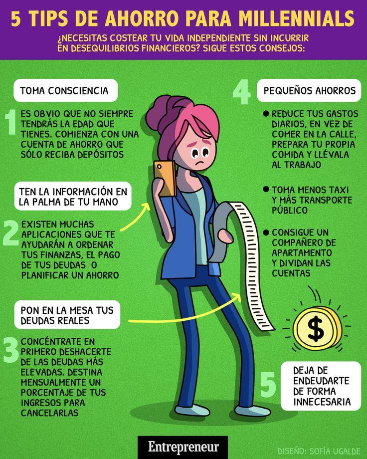 Tips de ahorro para millennials – Finance tips for small business Savings Plan, Debt Payoff, Financial Planning, Finance Tips, Money Tips, Helping People, Saving Money, Digital Marketing, Budgeting