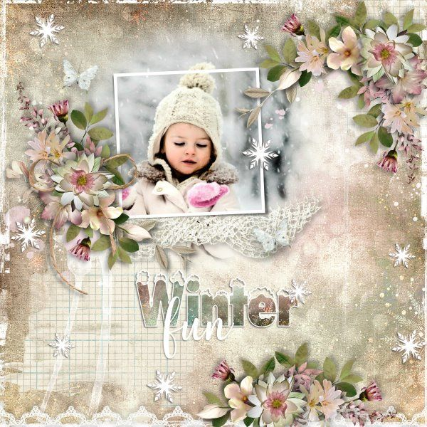 Winters Frost by SaviByDesign. Template Snow Excited by Heartstrings Scrap Art. Photo from Desktop Nexus.