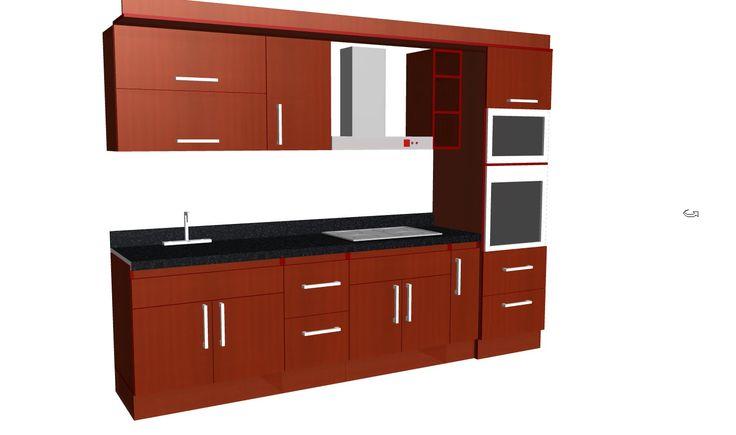 Dise o y medidas mueble de cocina buscar con google - Buscar muebles de cocina ...