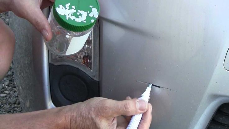 How To Use a Touch Up Paint Pen - Bumper Paint Scratch Repair on a Toyot...