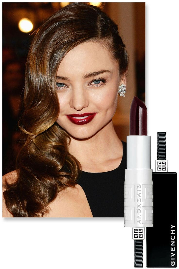 Black dress with red lipstick - Givenchy Rouge Interdit Lipstick In Black Plum How To Wear Berry Lipsticks Best Berry
