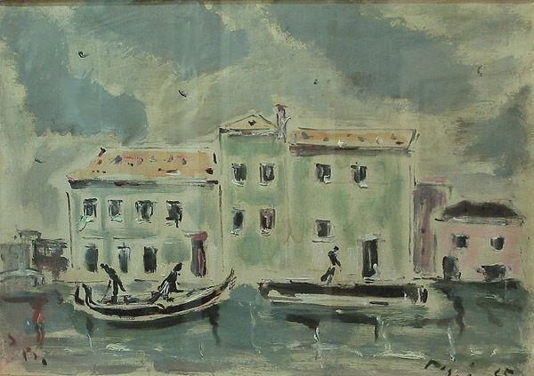 Filippo De Pisis  cm. 50x70  olio su tela   1945  Venezia
