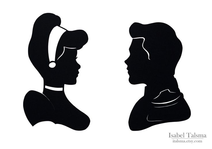 Cinderella and Prince Charming Handcut Disney Silhouettes. $40.00, via Etsy.