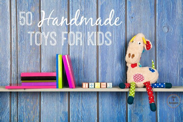 Check out these DIY ideas for 50 Handmade Toys for Kids that I found. I love making toys for J and I hope you'll find some your family will love too.