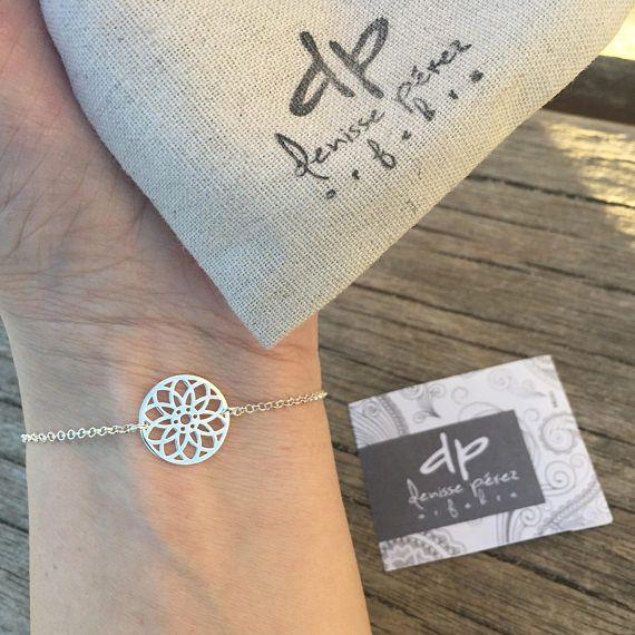 Chain bracelet  Mandala bracelet  Daily bracelet  Circle of
