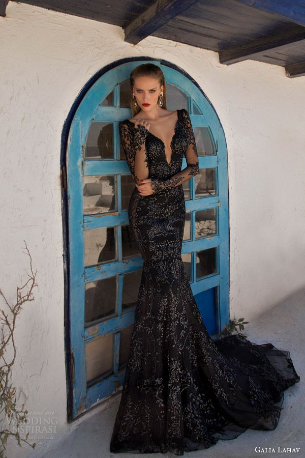 Galia Lahav 2014 Moonstruck Evening Collection Black DressesBlack